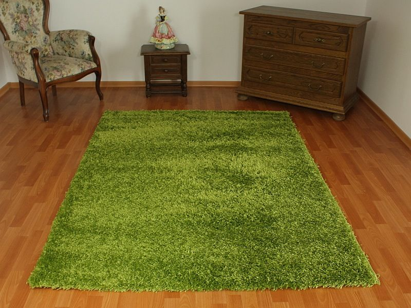 Dywan Shaggy Kolor Zielony Perlavita